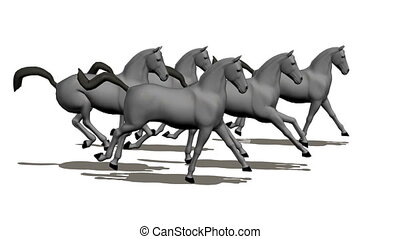 troupeau chevaux