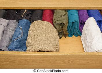 trouser, espace, ouvert, gratuite, tiroir, laine, chandails