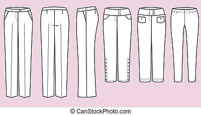 Trousers for woman - Vector fashion clothes fort woman....