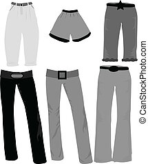 trousers icons vector