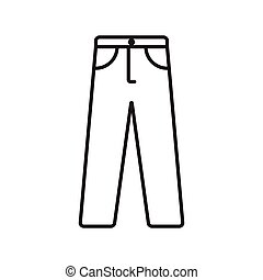 trousers outline stroke icon vector