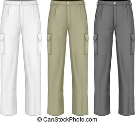 trousers., trabajo, hombres