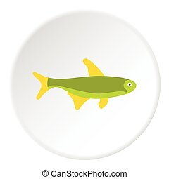 Trout fish icon, flat style