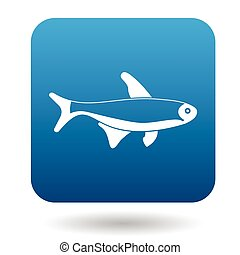 Trout fish icon, simple style