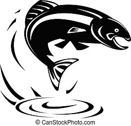 trout-fish-jumping-out-of-water-retro-bw-cut