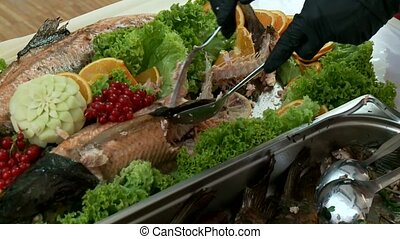Trout Fish On Buffet