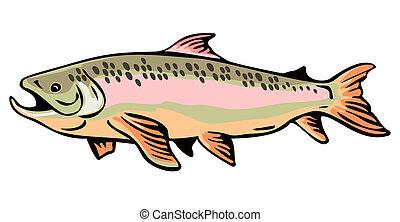 Trout Fish Retro