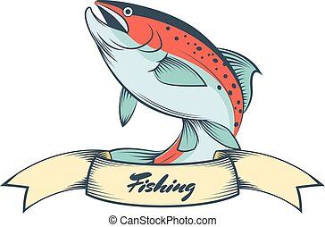 Trout fishing banner