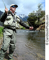 fishing trout