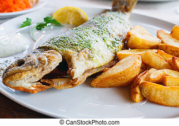 trout with roasted potatoes