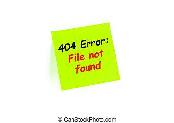 trouvé, 404, poteau-il, fichier, pas, note, error: