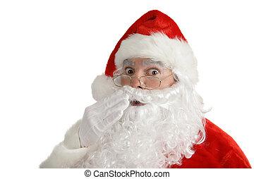 trouvé, claus, -, santa, dehors