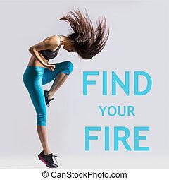 trouver, ton, brûler