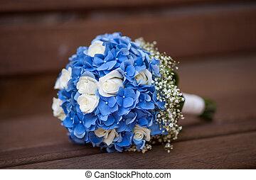 trouwboeket, van, bloemen