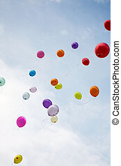 trouwfeest, ballons