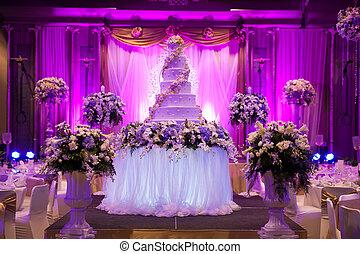trouwfeest, banquet.