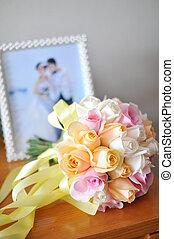 trouwfeest, bloemen