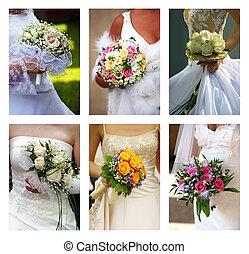 trouwfeest, boeketten