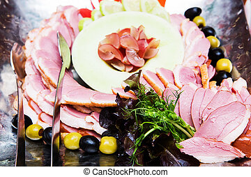 trouwfeest, buffet