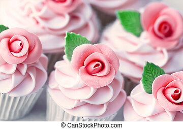trouwfeest, cupcakes