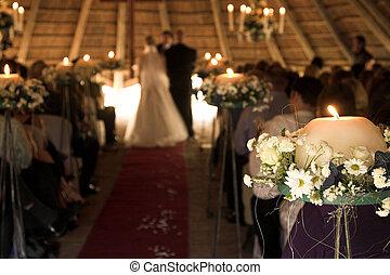 trouwfeest, dienst