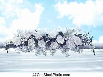 trouwfeest, floral, decoraties