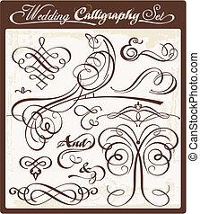 trouwfeest, kalligrafie