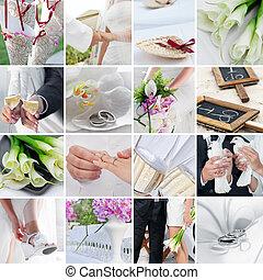 trouwfeest, malen, vermalen