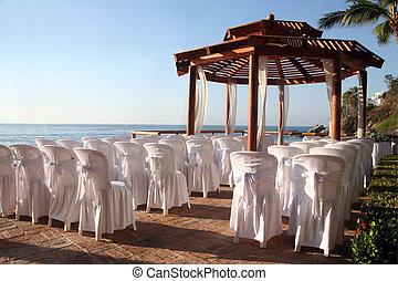 trouwfeest, op het strand