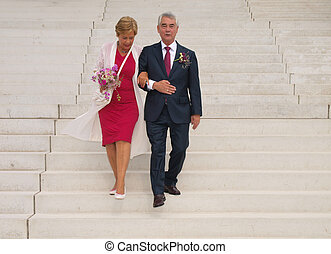 trouwfeest, oudere mensen