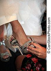 trouwfeest, schoentjes