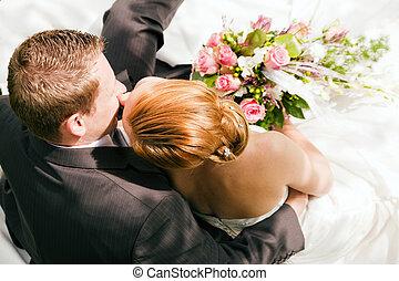 trouwfeest, -, tederheid
