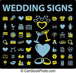 trouwfeest, tekens & borden