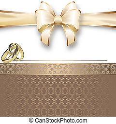 trouwfeest, template., kaart, uitnodiging