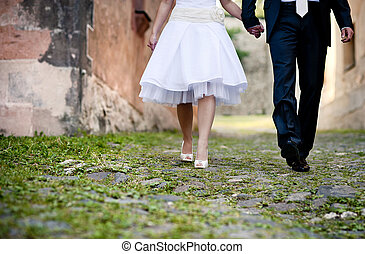 trouwfeest, voetjes
