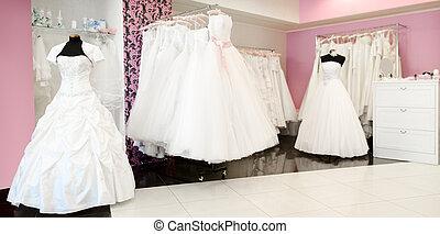 trouwfeest, winkel, panorama