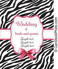 trouwfeest, zebra stript, uitnodiging