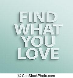 trovare, cosa, lei, amore