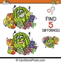 trovare, il, differenze, compito