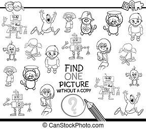 trovare, singolo, articolo, coloritura, pagina