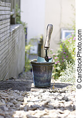 Trowel and Plant Pot