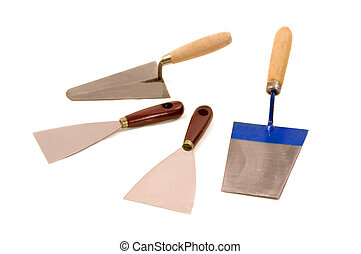 Trowel - Bricklayers and housepainters trowels, construction...