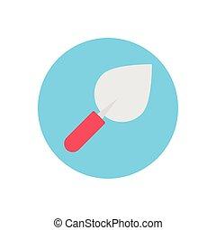 trowel  flat color icon