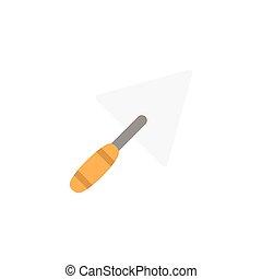 trowel flat icon
