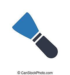 trowel glyph color icon