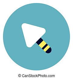 Trowel Icon On Round Blue Background