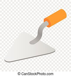 Trowel isometric 3d icon