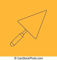 Trowel line icon