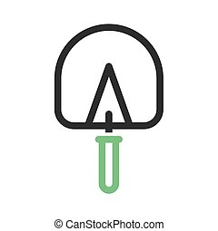 Trowel, masonry, gardening icon vector image. Can also be...