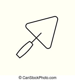 Trowel outline icon